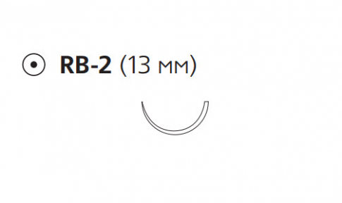 Викрил Плюс (Vicryl Plus) 5/0, длина 70см, кол. игла 13мм VCP433H