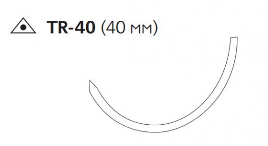 Викрил (Vicryl) 3/0, длина 45см, троакарная обр-реж. игла 40мм, сложный изгиб, фиолетовая нить (W9340)