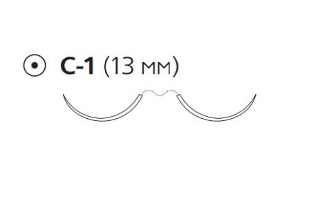 ПДС Плюс (PDS Plus) 6/0, длина 70см, 2 кол. иглы 13мм PDP1721H