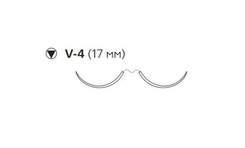 Этибонд Эксель (Ethibond Excel) 3/0, длина 75см, 2 кол-реж. иглы 17мм W6923