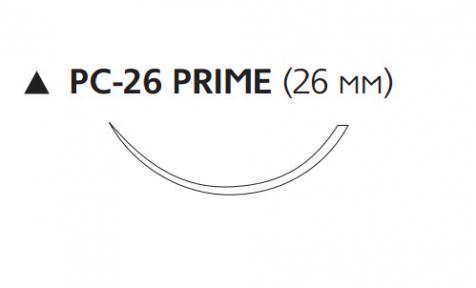 Нерассасывающийся шовный материал Пролен (Prolene) 4/0, длина 45см, реж. игла 26мм Prime, 3/8 окр. (W8020T) Ethicon (Этикон)