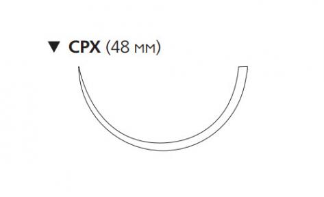 ПДС II (PDS II) 1, длина 90см, обр-реж. игла 48мм W9299T