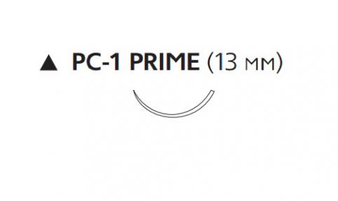 Рассасывающийся шовный материал Викрил (Vicryl) 6/0, длина 45см, реж. игла 13мм Prime, 3/8 окр., неокрашенная нить (W9831T) Ethicon (Этикон)