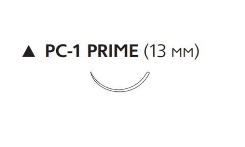 Рассасывающийся шовный материал с антибактериальным покрытием ПДС Плюс (PDS Plus) 6/0, длина 45см, реж. игла 13мм, 3/8 окр., неокрашенная нить (PDP9861H) Ethicon (Этикон)