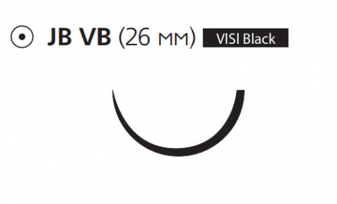 Монокрил (Monocryl) 3/0, 8шт по 70см, кол. игла 26мм Visi Black, соединение Control Release, 1/2 окр., фиолетовая нить (Y7840G)