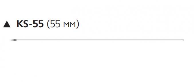 Викрил (Vicryl) 2/0, длина 75см, реж. игла 55мм W9713