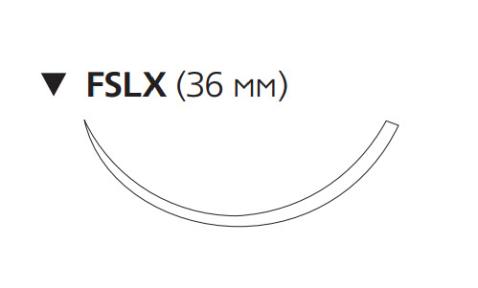 Викрил Рапид (Vicryl Rapide) 2/0, длина 75см, обр-реж. игла 36мм W9961