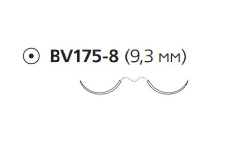 Пронова (Pronova) 7/0, длина 60см, 2 кол. иглы 9,3мм PN8714H