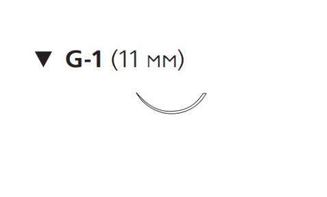 Пролен (Prolene) 6/0, длина 45см, обр-реж. игла 11мм W8697
