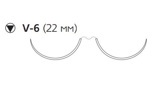 Пролен (Prolene) 5/0, длина 75см, 2 кол-реж. иглы 22мм OKK5672H