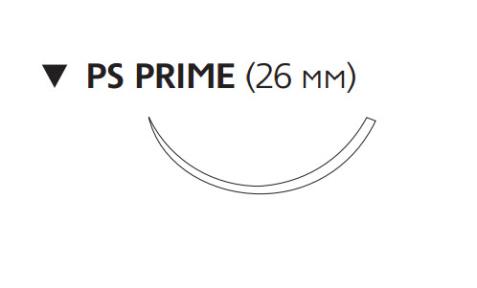 Этилон (Ethilon) 3/0, длина 75см, обр-реж. игла 26мм Prime, 3/8 окр., синяя нить (W1685T)