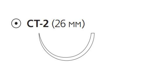 Монокрил Плюс (Monocryl Plus) 0, длина 90см, кол. игла 26мм MCP4330H