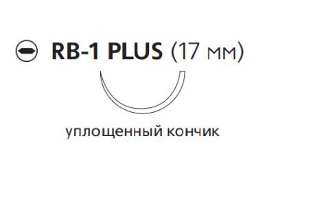 Монокрил Плюс (Monocryl Plus) 3/0, длина 70см, кол. игла 17мм MCP215H