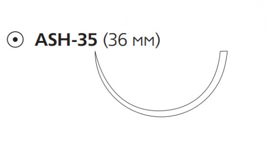 Рассасывающийся шовный материал с антибактериальным покрытием Викрил Плюс (Vicryl Plus) 0, длина 70см, кол. игла 36мм, 1/2 окр., фиолетовая нить (VCP9221H) Ethicon (Этикон)