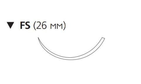 Этилон (Ethilon) 2/0, длина 45см, обр-реж. игла 26мм EH7796H