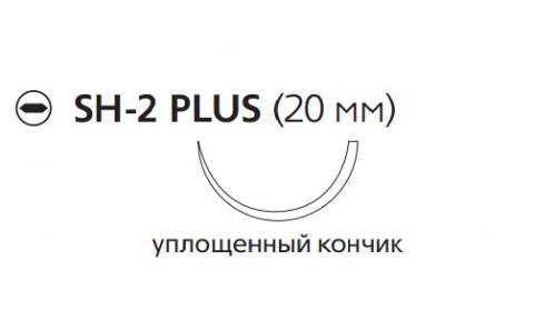 ПДС II (PDS II) 3/0, длина 70см, кол. игла 20мм, 1/2 окр., уплощенный кончик, фиолетовая нить (W9116H)
