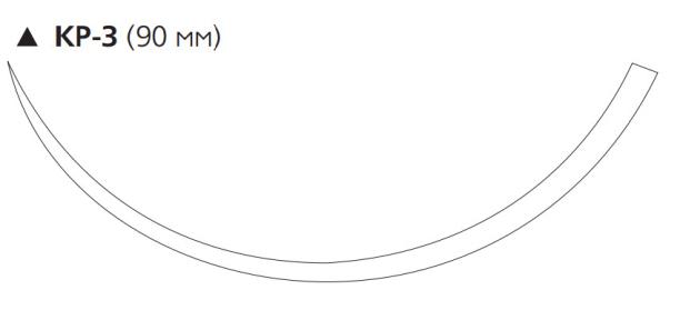 Нерассасывающийся шовный материал Этилон (Ethilon) 2, длина 100см, реж. игла 90мм, 3/8 окр., синяя нить (W798) Ethicon (Этикон)