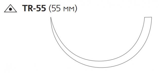 Хирургическая проволока (Surgical Steel) 5, длина 75см, игла 55мм W945