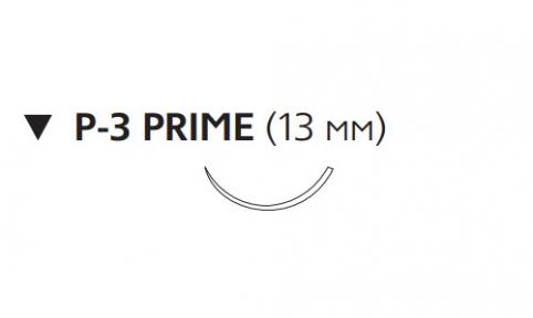 Рассасывающийся шовный материал с антибактериальным покрытием Монокрил Плюс (Monocryl Plus) 5/0, длина 70см, обр-реж. игла 13мм Prime, 3/8 окр., неокрашенная нить (MCP493H) Ethicon (Этикон)