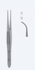 Пинцет хирургический для иридэктомии Graefe (Грефе) AU1042
