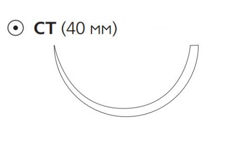 Монокрил (Monocryl) 0, длина 70см, кол. игла 40мм W3758