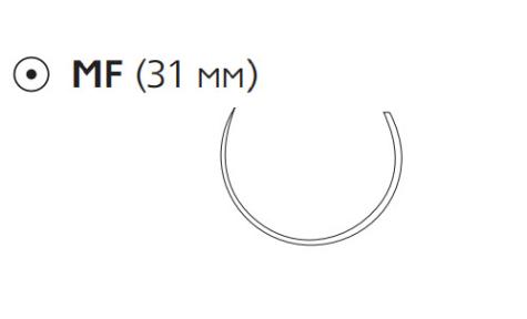 Рассасывающийся шовный материал с антибактериальным покрытием Викрил Плюс (Vicryl Plus) 3/0, длина 70см, кол. игла 31мм, 5/8 окр., неокрашенная нить (VCP308H) Ethicon (Этикон)