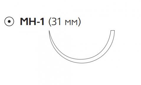 Хирургическая проволока (Surgical Steel) 2/0, длина 75см, кол. игла 31мм W311
