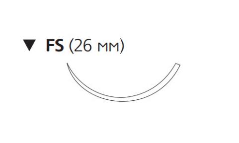 Рассасывающийся шовный материал Викрил Рапид (Vicryl Rapide) 2/0, длина 75см, обр-реж. игла 26мм, 3/8 окр., неокрашенная нить (W9941) Ethicon (Этикон)