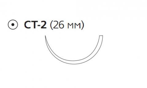 Викрил Плюс (Vicryl Plus) 2/0, длина 90см, кол. игла 26мм VCP326H