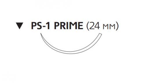 Рассасывающийся шовный материал с антибактериальным покрытием Викрил Плюс (Vicryl Plus) 2/0, длина 45см, обр-реж. игла 24мм Prime, 3/8 окр., неокрашенная нить (VCP684H) Ethicon (Этикон)