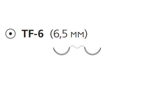 Пролен (Prolene) 6/0, длина 45см, 2 кол. иглы 6,5мм EH7814E