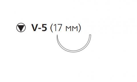 Викрил Плюс (Vicryl Plus) 4/0, длина 70см, кол-реж. игла 17мм VCP994H