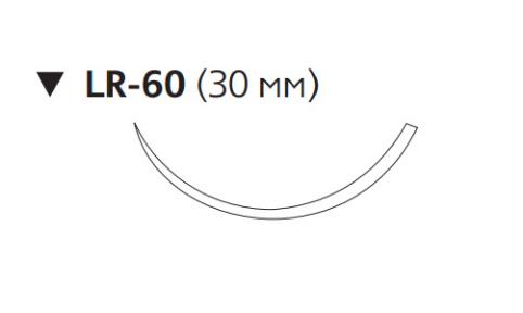 Этилон (Ethilon) 2/0, длина 100см, обр-реж. игла 30мм, 3/8 окр., синяя нить (W558)