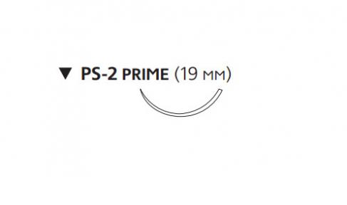 ПДС II (PDS II) 4/0, длина 45см, обр-реж. игла 19мм Prime W9874T