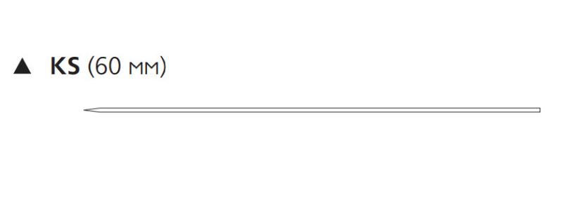 Пролен (Prolene) 2/0, длина 75см, реж. игла 60мм KS W8631