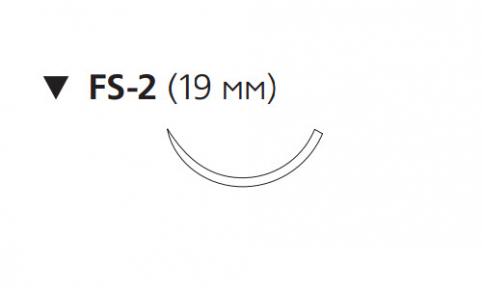 Викрил Рапид (Vicryl Rapide) 4/0, длина 75см, обр-реж. игла 19мм W9930