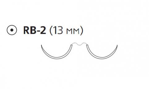 Нерассасывающийся шовный материал Пролен (Prolene) 6/0, длина 75см, 2 кол. иглы 13мм, 1/2 окр. (8711H) Ethicon (Этикон)