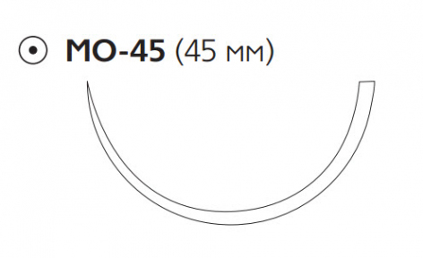 Монокрил (Monocryl) 1, длина 90см, кол. игла 45мм W3727
