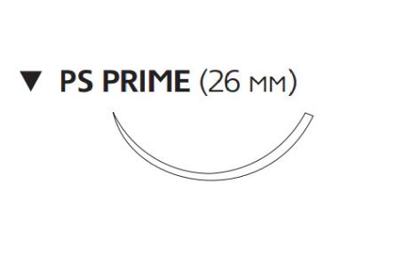 Монокрил Плюс (Monocryl Plus) 4/0, длина 70см, обр-реж. игла 26мм Prime MCP3212H