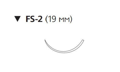 Викрил (Vicryl) 4/0, длина 45см, обр-реж. игла 19мм W9951