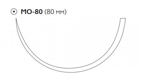 Рассасывающийся шовный материал Викрил (Vicryl) 1, длина 100см, кол. игла 80мм, 1/2 окр., фиолетовая нить (W9289) Ethicon (Этикон)