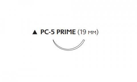 ПДС II (PDS II) 4/0, длина 45см, реж. игла 19мм Prime W9615T