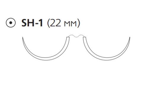 ПДС Плюс (PDS Plus) 4/0, длина 90см, 2 кол. иглы 22мм, 1/2 окр., фиолетовая нить (PDP2993H)