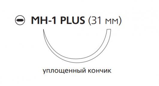Рассасывающийся шовный материал Викрил (Vicryl) 0, длина 75см, кол. игла 31мм, 1/2 окр., уплощенный кончик, фиолетовая нить (W9138) Ethicon (Этикон)