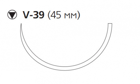 Викрил Плюс (Vicryl Plus) 1, длина 70см, кол-реж. игла 45мм VCP9377H
