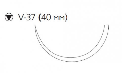 Хирургическая проволока из нержавеющей стали (Surgical Steel) 1, 4шт по 45см, кол-реж. игла 40мм, 1/2 окр. (M660G)