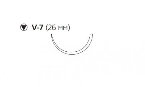 Рассасывающийся шовный материал ПДС II (PDS II) 2/0, длина 70см, кол-реж. игла 26мм, 1/2 окр., фиолетовая нить (W9184H) Ethicon (Этикон)