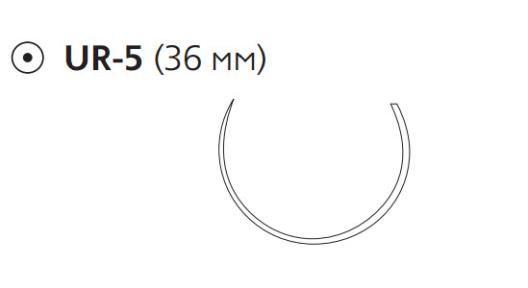 Рассасывающийся шовный материал Викрил (Vicryl) 2/0, длина 70см, кол. игла 36мм, 5/8 окр., фиолетовая нить (V375H) Ethicon (Этикон)