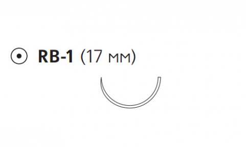 Пролен (Prolene) 4/0, длина 75см, кол. игла 17мм 8871H
