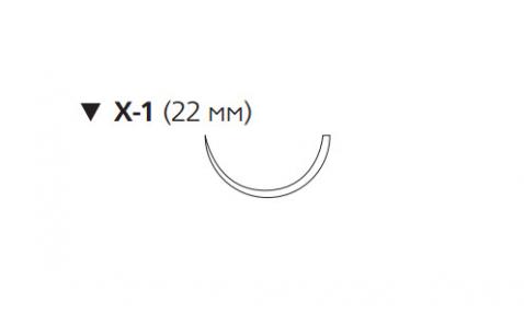ПДС II (PDS II) 3/0, длина 45см, обр-реж. игла 22мм W9740T